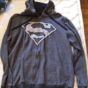 NWOT Superman zip up hoodie